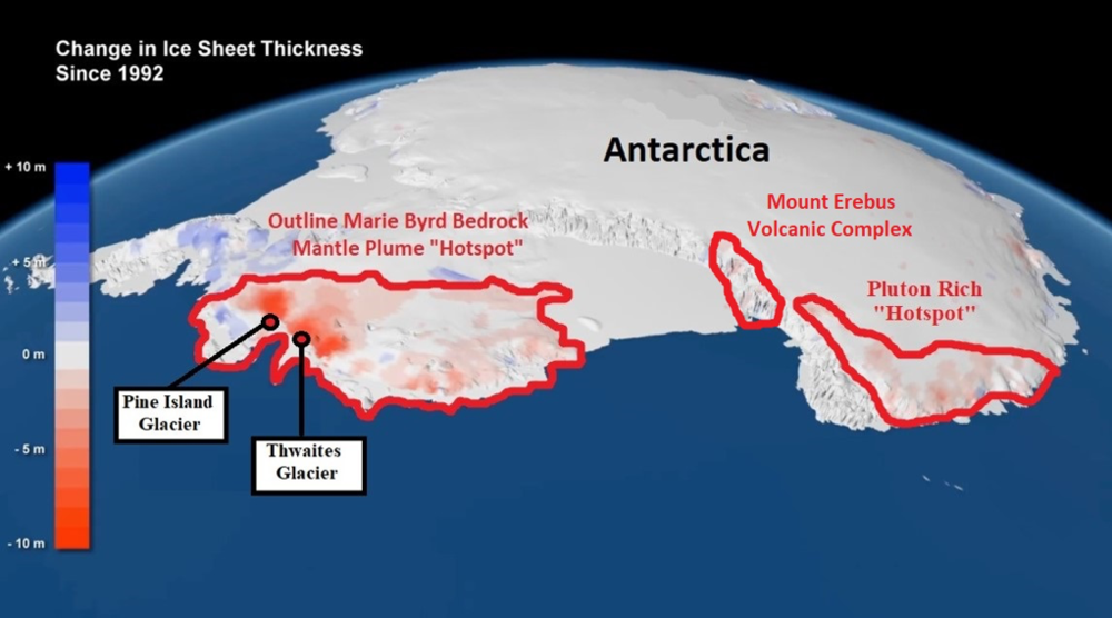 Geological 'Hotspot' Melting Pine Island and Thwaites Glaciers, Not Global  Warming — Plate climatology