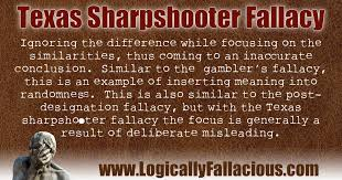 Image result for texas sharpshooter fallacy