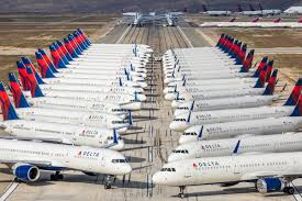Image result for covid19 pandemic idled airliners on the ground