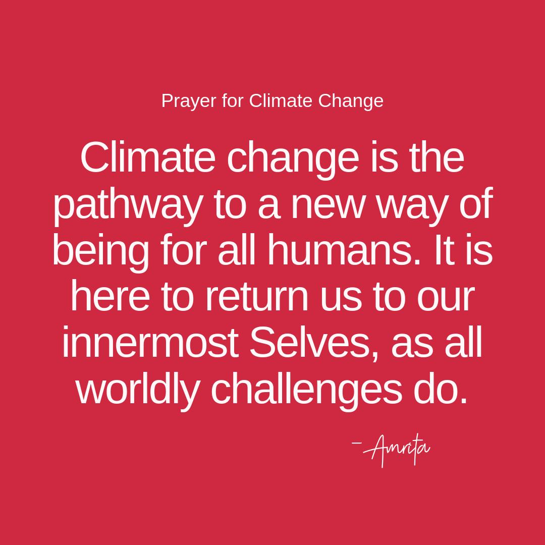 Prayer for Climate Change — Inner Altar